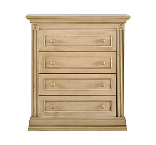 (Montana Collection Natural Hardwood 4 Drawer Chest of Drawers Dresser | Lasting Quality & Design | Kiln-dried & Hand-Crafted Construction | 38
