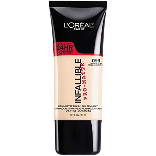 (L'Oreal Paris Makeup Infallible Pro-Matte Liquid Longwear Foundation, True Porcelain 099, 1 fl. oz.)