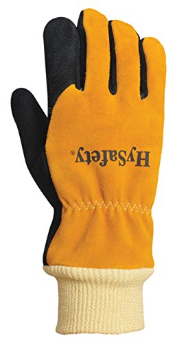 HySafety 7888XL Structural Firefighting Glove with Knit Wrist Meets NFPA 1971-2013 Standards Leather, X-Large, X-Large