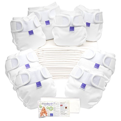 Bambino Mio, Miosoft Cloth Diaper Birth to Potty Pack, White by Bambino Mio