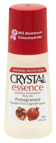 Crystal Deodorant Essence Roll -On Pomegranate 2.25 oz.  wit