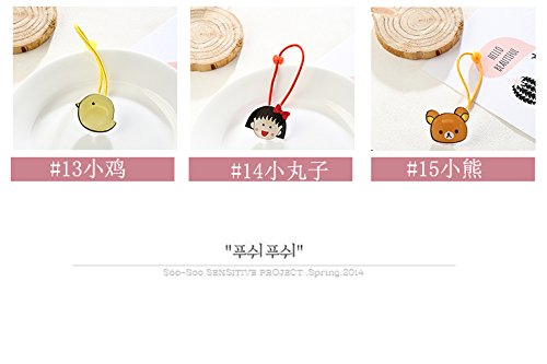 Generic 6 sets Korean version of the new fashion trend of small cherry Ms. cute animal Women Head hair rope Ties Ponytail Holder Band Hairband hair tie rubber band hair accessories