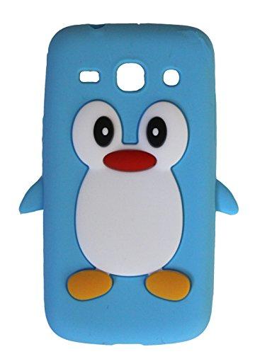 SKS Distribution® azul claro silicona pingüino FUNDA / CARCASA / COVER para Samsung Galaxy Core Plus