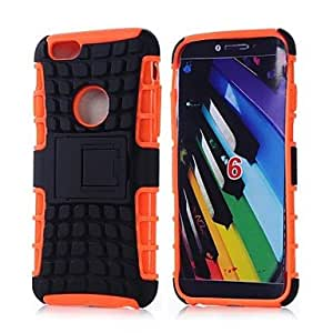 GJY 5.5 Inch 2 in 1 TPU PC Combo Armor Dual Layer Back Cover for iPhone 6 Plus(Assorted Colors) , Black