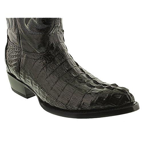 12f11404e14 El Presidente - Men's Black Genuine Crocodile Tail Skin Cowboy Boots ...