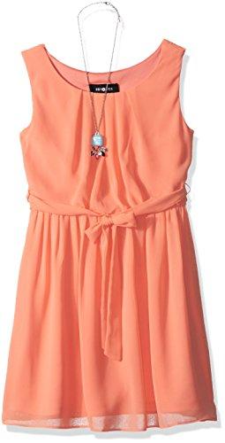 Amy Byer Girls' Big Sleeveless Blouson Dress, Desert Coral, 14]()