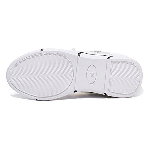 Lusam Gevoel Womens Lichtgewicht Sneakers Mode Weg Loopschoenen Trail Ademende Sportschoenen Wit