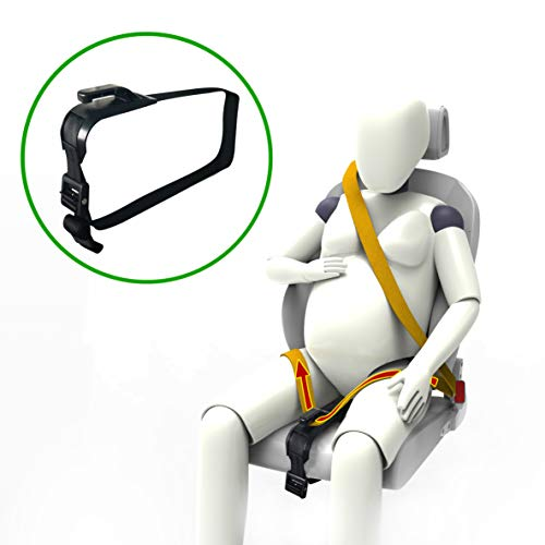 ZUWIT Pregnancy Car Belt Adjuster, Comfort & Safety for Pregnant Moms Belly, Protect Unborn Baby, a Must-Have for Expectant Mothers - Black