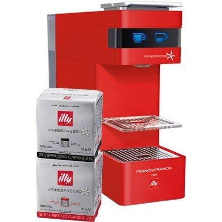 Máquina Illy Y3 iperespresso rojo 108 Cápsulas gratuitos ...