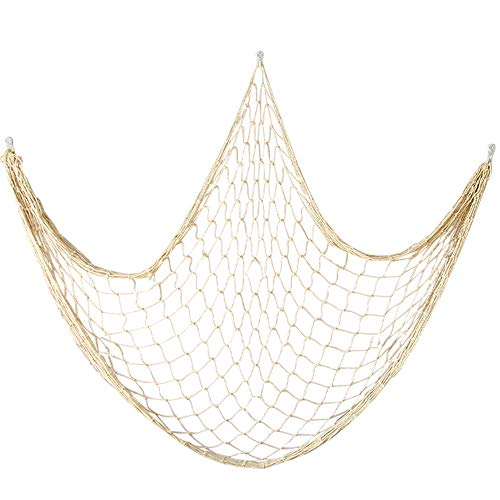 Cotton Fishing Net Decorative 79 Inch Beach Themed Decor Home Bedroom Party Wall Decoration Fish Netting Decorative -