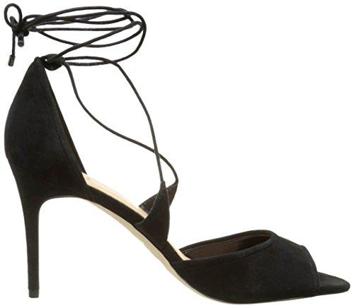 ALDO Suede Immine Black Femme Cheville Sandales 91 Bride Noir pPwqpr