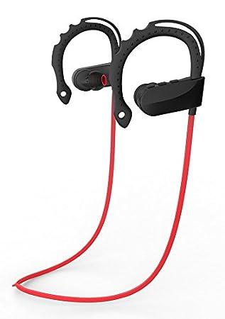 Q12 Auriculares Bluetooth 4.1 Inalámbrico Deportivos con Microfono ,Mini Kitty Cómodos,Oído en forma, Anti-sudor A2DP Sonido Estéreo Manos Libres Para ...