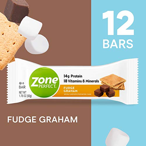 ZonePerfect Protein Bars, Fudge Graham, High Protein, With Vitamins & Minerals (12 Count)