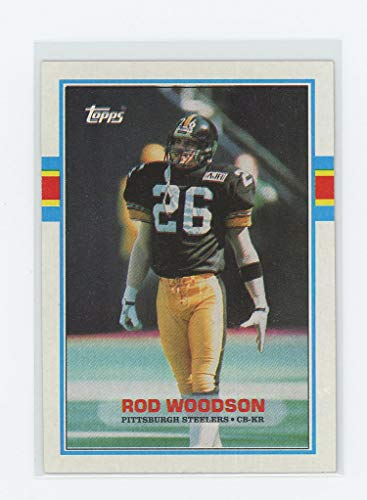 1989 Topps #323 Rod Woodson Steelers Rookie Card - Mint Condition Ships in New Holder