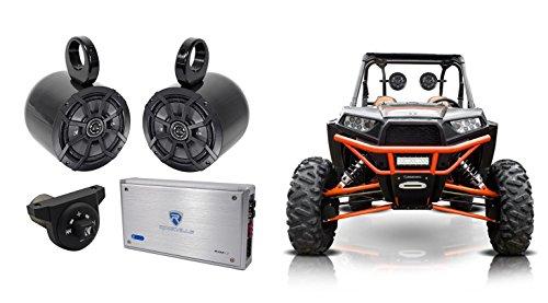 "Price comparison product image 2) Kicker 6.5"" Tower Speakers+2-Ch Amp+Bluetooth Contoller 4 Polaris RZR / ATV / UTV"