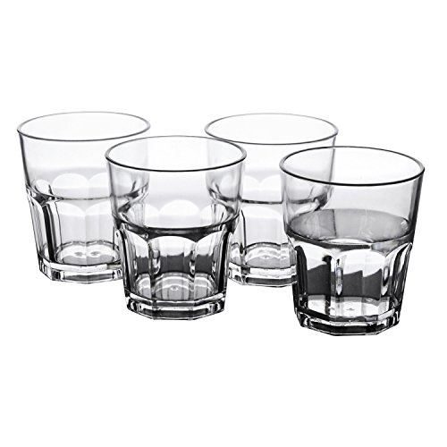 Water Tumblers, PEMOTech [4 Pack] 9 Oz Premium Quality Clear