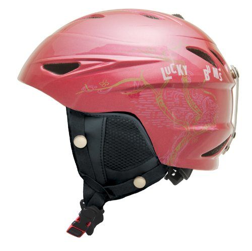 Lucky Bums Alpine Series Cherry Blossom Helmet, Raspberry, Large