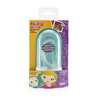 Nuby Breathe-EEZ Nasal Aspirator with Hygienic Travel Case, Infant Nasal Congestion Relief