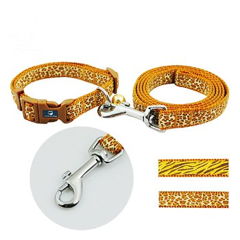 (Safari Extra Fine Weave Nylon Collar & Leash Set for Dogs and Cats)