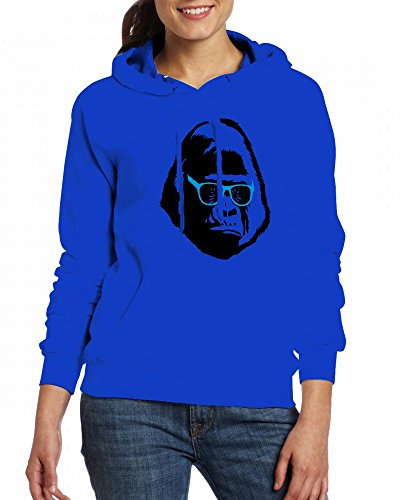 A Gorilla Wears Glasses Womens Hoodie Fleece Custom Sweartshirts