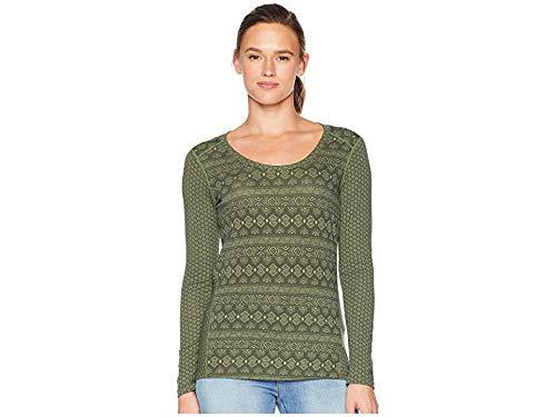 Marmot Long Sleeve Pullover - Marmot Women's Simone Long Sleeve Vine Green/Metallic Geo Small