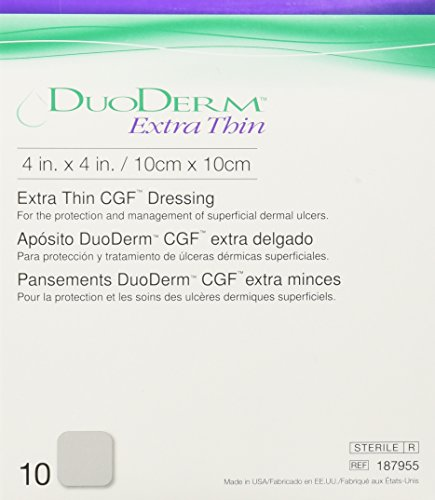ConvaTec DuoDERM Extra Thin CGF Dressings 4 X 4 Inches 187955 10 Each from ConvaTec