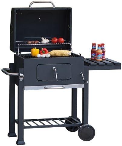 Tepro Toronto Barbecue à charbon de bois Anthracite/acier inoxydable