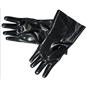 """Artisan Griller 12"""" Heat Resistant Insulated Neoprene Gloves For Smokers, Fryers & Grills For Cooking & Handling Turkey Fryers, BBQ's, Pulling Pork, Home Brew Tasks. Includes 2-12"""" glove"""