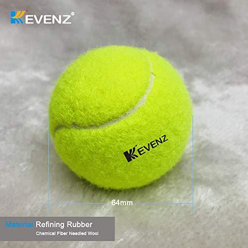 KEVENZ Green Advanced Training Tennis Balls,Practice Ball,Tennis Racket (12-Pack) by KEVENZ (Image #3)