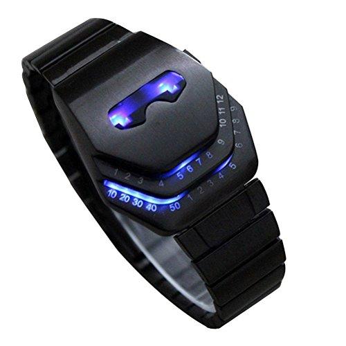 Genießen Braun LED Uhr Herren Blue Ray Glas Quartz Analog Uhren