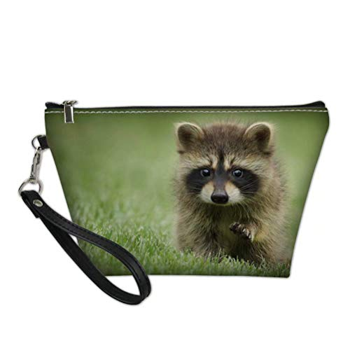 - FOR U DESIGNS Cute Animal Raccoon Print Women Travel Makeup Bags Cosmetic Case Pouch Holder Large Capacity