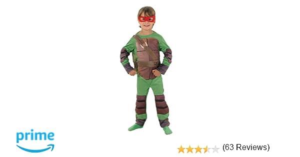 Rubies - Disfraz de las Tortugas Ninja para niño, talla S (3-4 años)