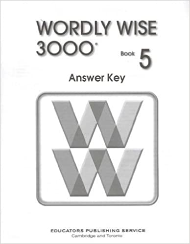 Wordly Wise 3000 Grade 5 Answer Key - 2nd Edition: Wendy Drexler ...