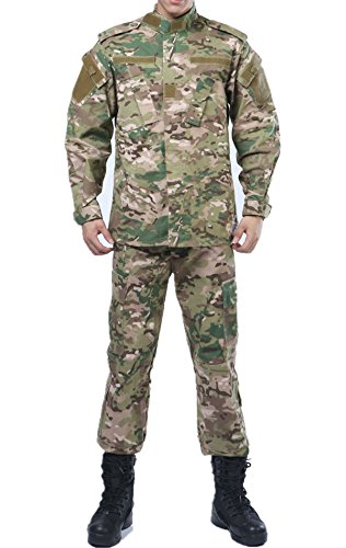 US Army CP Multicam Camo ACU Combat Coat Pant Uniform Sets Ripstop by XinAndy Military