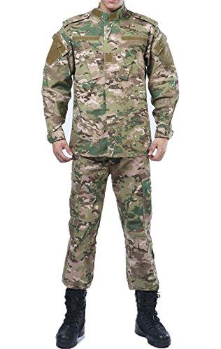 Acu Uniform Set - U.S. Army CP Multicam Camo ACU Combat Coat Pant BDU Uniform Sets Military Jacket Shirt & Pants Suit