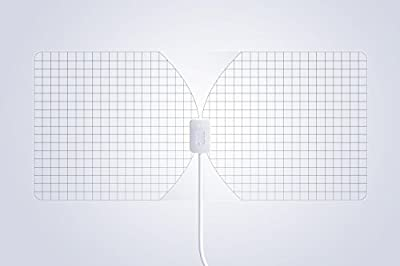 RGTech Monarch 50 Transparent Flat Paper Thin Indoor HDTV Antenna - 50 Mile Range Multidirectional Reception, UWB Technology and 4G filter for Maximum UHF/VHF/FM/USB TV Tuner/DVB-T/DAB Radio reception