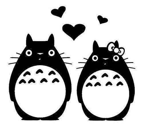 [Totoro Love Family Vinyl Decal Sticker Cars Trucks Vans Walls Laptops Cups Black 6 X 5.5 In KCD834] (Totoro Diy Costume)