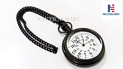 Antique Brass Clock Marine Vintage Pocket Watch Maritime Gift from NAUTICALMART
