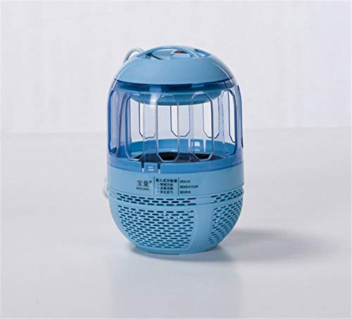 USB Electric UV Mosquito Killer Lamp with 6 LED Nights Fly Bug Insect Zapper Trap   Navy bluee
