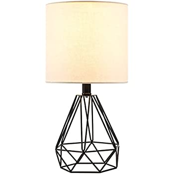 Co Z Modern Table Lamp With White Fabric Shade Rose Gold
