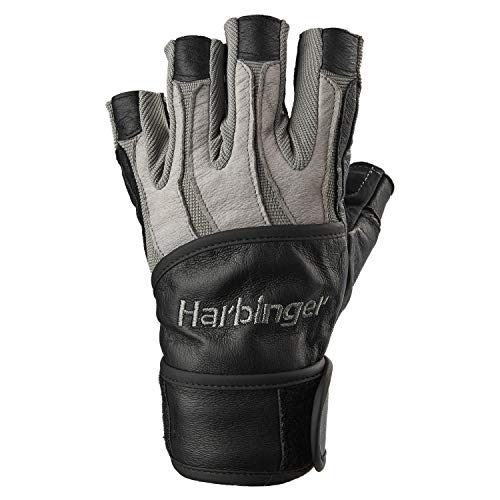 Harbinger BioForm Wristwrap Weightlifting Glove with Heat-Activated Cushioned Palm (Pair), X-Large