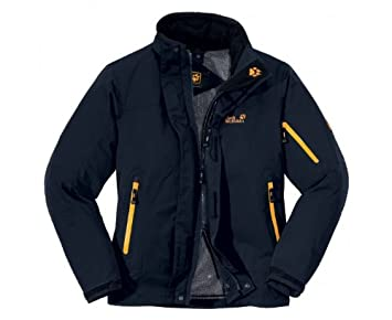new design offer discounts well known JACK WOLFSKIN Men's Resolution Jacket, Blue, S: Amazon.co.uk ...