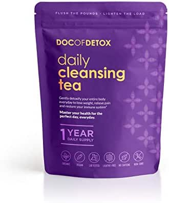 Doc Of Detox 365-Day Daily Detox Tea, Weight Loss Tea, Teatox Herbal Tea for Cleanse