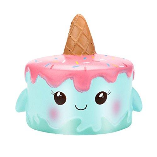 Wotryit Kawaii Jumbo Cartoon Unicorn Cake Squishy Slow Rising Cream Scented Stress Reliever Toys (E) (Cartoon Cake)