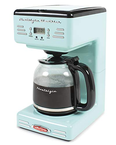 Nostalgia RCOF12AQ New & Improved Retro 12-Cup Programmable Coffee Maker With LED Display, Automatic Shut-Off & Keep…