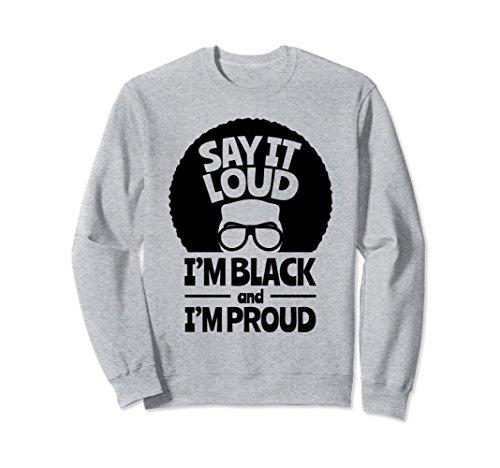 Unisex Black & Proud Female Women African Pride Sweatshirt Medium Heather Grey