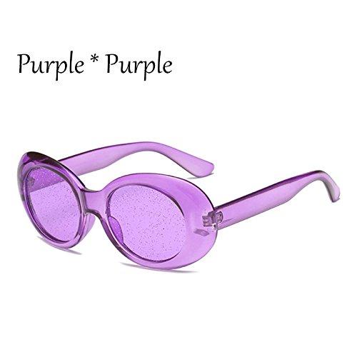 Protección Candy C7 Purple G469 Brillantes TIANLIANG04 Tonos La C4 Mujer Solar Gafas Oval Lentes De Claro Sol Señoras Colors Gafas De 7n1nSTqg