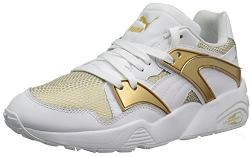 PUMA Women's Blaze Gold Wn's Fashion Sneaker, White White, 7 M US (Puma Trinomic Women)