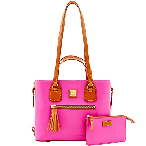 dooney-bourke-leather-morgan-tote-with-coin-pursefuchsia