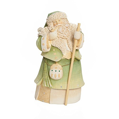 Irish Foundation - Enesco Foundations Gift Irish Santa Figurine, 7.68-Inch
